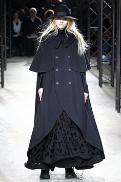 yohji yamamoto does a modern day version of anna karenina?