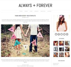Wordpress Theme - Photography Blog Template with Slider - INSTANT DOWNLOAD