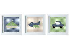 SALE Transportation Wall Art Baby Boy Room by FMDesignStudio