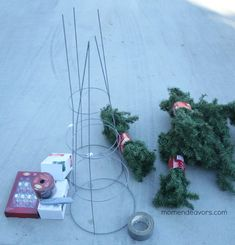 Tomato Cage Christmas Tree Supplies