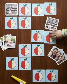 Love this personalized memory game for kids. Easy DIY project!