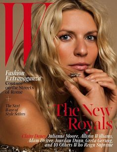 Claire Danes for W Magazine October 2015 by Inez & Vinoodh