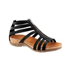 0d9fcc1ff42c Layla Black Front Zip Sandal The Layla is a stunning spring and  summer-ready strappy
