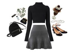 """riverdale : veronica lodge"" by jessythebabe ❤ liked on Polyvore featuring De Siena, Chicwish, Urban Outfitters, Balmain, Burt's Bees, veronica and riverdale"