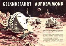Cool Moon rovers by Klaus Bürgle in 1962