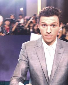 """(swipe)  Tom at the """"Spider-Man: Homecoming"""" premiere in Beijing, China today!  {© to owner}  @tomholland2013 