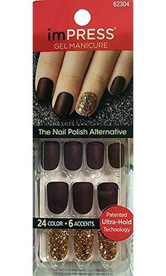 """KISS 2x Longer Lasting imPRESS """"BOOGIE DOWN"""" Matte Color by Broadway Press-On Manicure Nails"""