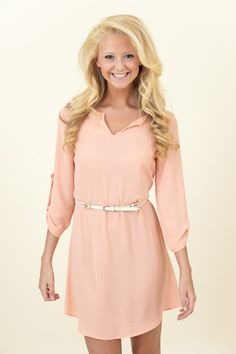Hot Off The Precious Dress-Coral - Dresses | The Red Dress Boutique