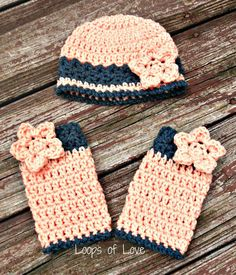 PDF Crochet Pattern Miss Mary Hat & Leg Warmer set with flowers Baby Child Adult sizes. $4.99, via Etsy.