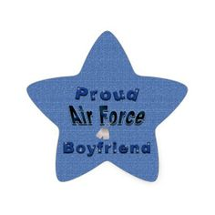 Proud Air Force Boyfriend Stickers