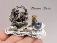 Miniature Dollhouse Provence Decoration Set Board by Minicler