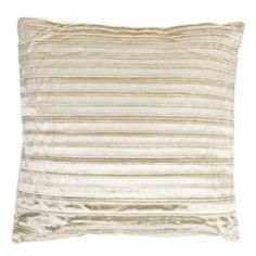 Add some luxury to your home with this beautifully opulent Pleated Velvet Cushion. The pleated fabric helps give this pillow a regal feel, brightening up your home and your mood! The choice of lavish metallic colours will complement neutral toned rooms, adding texture to your cushion arrangements or sofa.