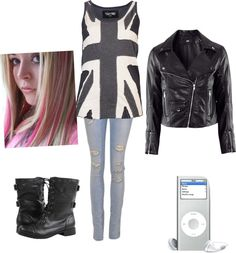 A fashion look from March 2013 featuring print shirts, faux-leather jackets and ripped jeans. Browse and shop related looks. Scene Outfits, Cool Outfits, Sadie Kane, Punk Fashion, Fashion Outfits, Cosplay Events, Fandom Fashion, Fandom Outfits, Casual Cosplay