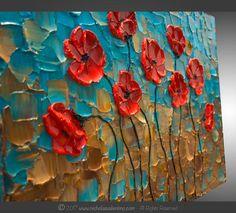 Grandes 24 x 36x1.5 empaste textura pintura Original sobre