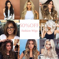 Women's Fashion Beauty Wigs Collection - All For Hair Cutes Wig Styles, Curly Hair Styles, Pretty Hairstyles, Braided Hairstyles, California Hair, Hair Addiction, Blonde Hair With Highlights, Fashion Beauty, Fashion Wigs