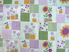 Quilting cotton fabric block Patchwork fabric by MargoCreative, €3.60