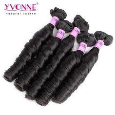 Grade 4A 100% Brazilian Spring Curl Virgin Hair Weave 1B Color