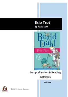 This is a 37 page PDF containing a range of activities and resources to support the teaching of reading and comprehension of Esio Trot by Roald Dahl. The activities are suitable for year 3 and some year 4 pupils. They include: 7 guided reads, 5 crosswords for vocabulary development, 2 sets of differ