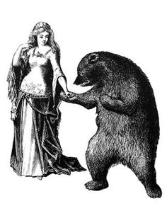 The Bear and the Maiden Fair Victorian Illustration, Funny Comic Strips, Japanese Folklore, All Souls, Dartmoor, Illustration Artists, Illustrations, Magical Girl, Funny Comics