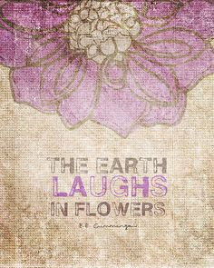 The Earth Laughs in Flowers by vol25 on Etsy