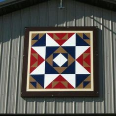 """""""Barn quilt that I painted. Hanging in Iowa."""""""