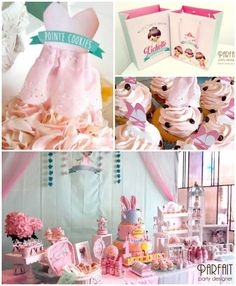 Pink and Mint Ballerina themed birthday party with Such Cute Ideas via kara's party ideas! full of decorating ideas, dessert, cake, cupcakes...