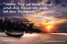 Jeder Tag ist eine Reise ... #Zitate #deutsch