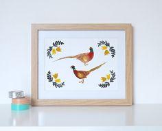 The Very Pleasant Pheasants Print  Pheasant Print  Bird