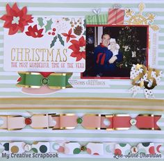 Christmas The Most Wonderful Time Of The Year - December 2015 Main Kit at My Creative Scrapbook. My Mind's Eye - Christmas on Market Street Collection