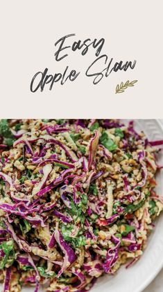 Healthy Side Dishes, Healthy Eating Recipes, Vegan Recipes Easy, Side Dish Recipes, Comidas Fitness, Apple Slaw, Slaw Recipes, Food Is Fuel, No Calorie Foods