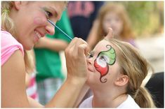 circus carnival party games - face painting