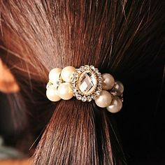 Women's Imitation Pearl/Rubber/Rhinestone Headpiece - Casual/Outdoor Hair Tie – USD $ 3.99