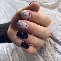 cute nail art designs for short nails 2019 page 23 Stylish Nails, Trendy Nails, Cute Nails, Square Nail Designs, Short Nail Designs, Acrylic Nail Designs, Nail Art Designs, Nails Design, Design Design