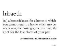 ❥ nostalgic, melancholy, homesick
