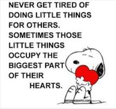 ~ Snoopy reminds us to put others first ~