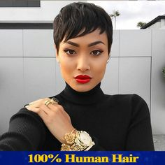 Cheap wigging out wigs, Buy Quality wig blue directly from China wig kid Suppliers: 2015 New Haircuts Short Human Hair Wigs For Black Women Brazilian Virgin Hair Wigs With Bang