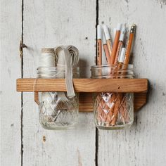 Think I might DIY this! I've been wanting one of these for a while, but for makeup in the bathroom, reclaimed wall organizer | dotandbo.com