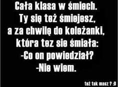 True Memes, Funny Memes, Jokes, Funny Lyrics, Polish Memes, Wtf Funny, Have Time, Quotations, Haha