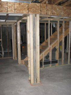 Finished Basement Designs | Finished Basement Pre-Planning Checklist Part II & How to frame basement poles: To help when framing basement support ...
