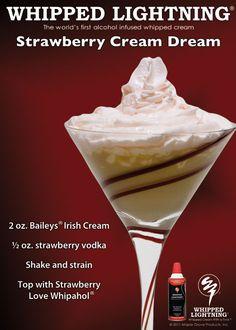 Strawberry Cream Dream with Strawberry Love Whipahol. http://whippedlightning.com