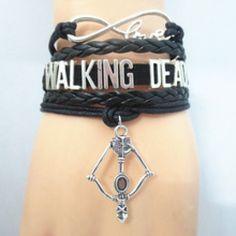 Walking Dead Bracelet Dead Inside, Walking Dead Zombies, Fear The Walking Dead, Walking Dead Funny, Jewelry Bracelets, Bow Jewelry, Black Jewelry, Charm Jewelry, Piercing