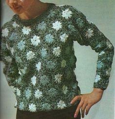 Пуловер из мотивов.