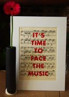 I have just published Its time to face the music on Artfinder