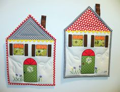 PP9 House Themed Potholders sent to Melinda (quirky granola girl), via Flickr.