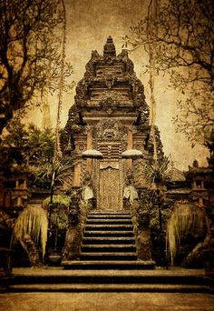 The Hindu temple, Pura Taman Kemuda Saraswati, in Ubud, Bali, Indonesia. . i need to visit bali!