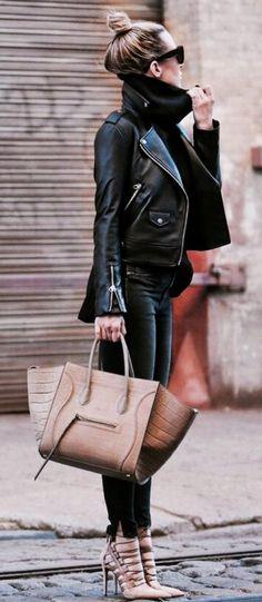 e8e3579b6b9f Jacket  Mackage, Sweater  Banana Republic, Pants  Rag   Bone, Shoes   Aquazzura, Bag and Sunglasses  Céline Cute Outfits