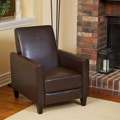 Don't sacrifice comfort for limited space. This handsome recliner club chair maximizes your living space with its attractive design and comforting embrace. Whether it's a modest apartment, a small motor home or just an extra guest room, you can still put your feet up in fine style regardless of space limitations. The narrow armrests and simplified composition are space-saving features that you'll come to appreciate in this cozy furnishing. The distinguished upholstery adds an air ...
