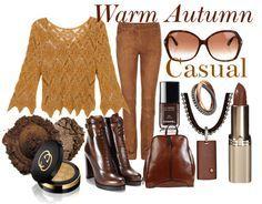 Warm Autumn Casual Source by prettyyourworld clothing Warm Fall Outfits, Autumn Casual, Autumn Style, Deep Autumn, Warm Autumn, Fashion Colours, Colorful Fashion, Look Fashion, Autumn Fashion