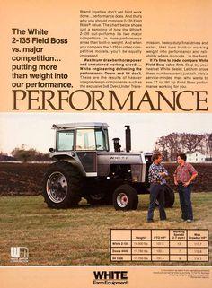 1980 Ad White Farm Equipment Field Boss Farming Equipment Machinery SF3