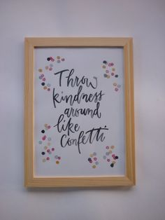 Calligraphie moderne Throw kindness around like par SophiePujol